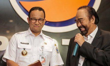 Gubernur DKI Anies Baswedan dan Ketum Partai Nasdem Surya Paloh